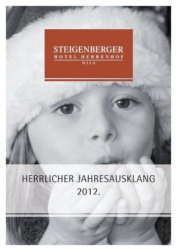 Weihnachtsbroschüre - Steigenberger Hotels and Resorts