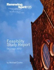 Feasibility Study Report - Trinity St. Paul's United Church