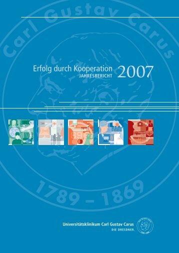 jahresbericht - Universitätsklinikum Carl Gustav Carus