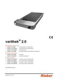 varithek 2.0 - Rieber GmbH & Co. KG