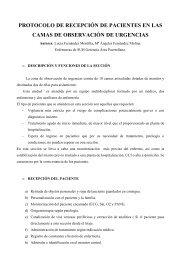 PROTOCOLO DE RECEPCIÓN DE PACIENTES EN LAS CAMAS DE OBSERVACIÓN DE URGENCIAS