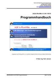 AQUA-WertMin 6.3.04-110210 Programmhandbuch - Ing. Karl Jansen