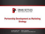 Partnership Development as Marketing Strategy