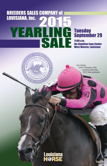 2015 YEARLING SALE