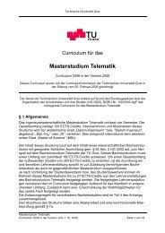 Masterstudium Telematik