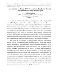 Generation MicroArray Technologies ABSTRACT