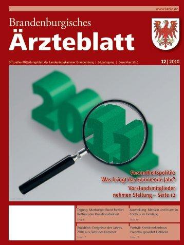 Ausgabe 12/2010 - Landesärztekammer Brandenburg