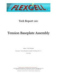Tension Baseplate Assembly