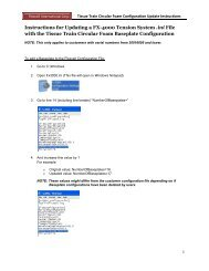 Instructions for Updating a FX-4000 Tension System .ini File with the ...