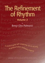 The Refinement of Rhythm, Volume 2 - Inside Music Teaching