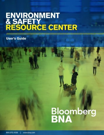 ENVIRONMENT & SAFETY RESOURCE CENTER