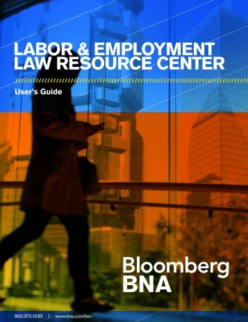 LABOR & EMPLOYMENT LAW RESOURCE CENTER