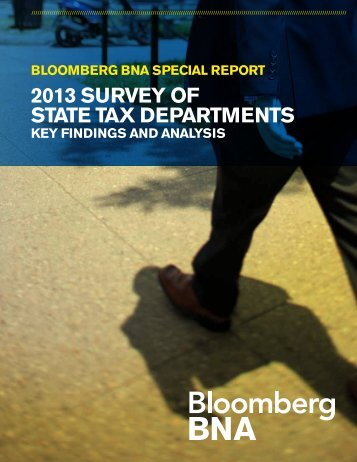 2013 Survey of State Tax Departments