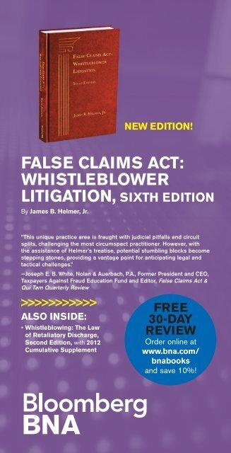 FALSE CLAIMS ACT WHISTLEBLOWER LITIGATION