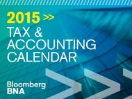 Tax & accounTing calendar PracTiTioner To ... - Bloomberg BNA