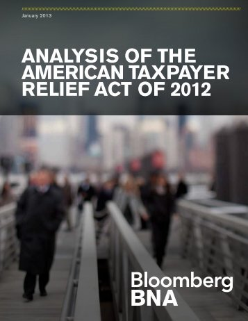 Analysis of the American Taxpayer Relief Act of 2012