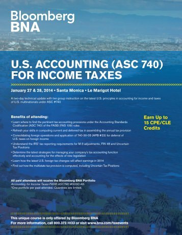 U.S ACCOUNTING (ASC 740) FOR INCOME TAXES