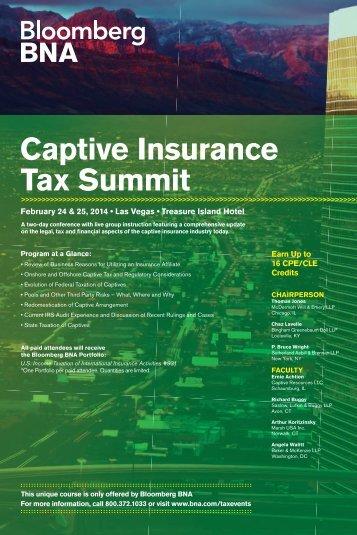 Captive Insurance Tax Summit