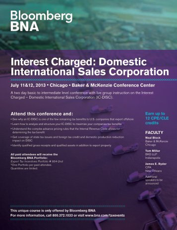 Interest Charged Domestic International Sales Corporation