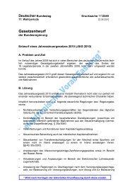 Gesetzesentwurf der Bundesregierung vom 22.6.2010 für ein  ...