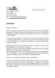 lettre ouverte du syndicat de la Magistrature