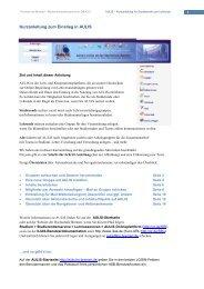 AULIS - Kurzanleitung für Studierende und Lehrende