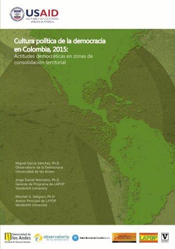 Actitudes democráticas en zonas de consolidación territorial