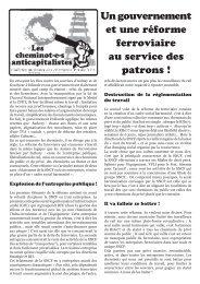 Un gouvernement et une réforme ferroviaire au service des patrons !