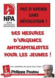 DES MESURES D'URGENCE ANTICAPITALISTES POUR LES JEUNES !