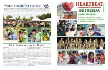 09-2012 September Heartbeat - Bethesda Christian Church