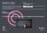 La GPEEC au coeur des processus de management intercommunal