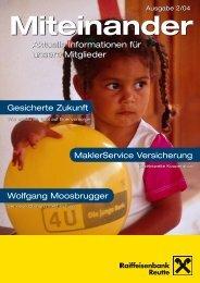 Mitgliederzeitung 2/2004 zum Download - Raiffeisen