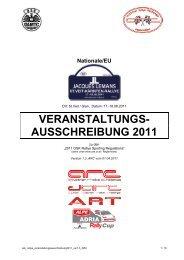 VERANSTALTUNGS- AUSSCHREIBUNG 2011 - Jacques Lemans ...