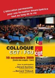 L'éducation COLLOQUE CGT / FSU