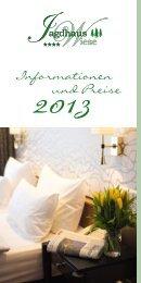 Informations- und Preisliste 2013 - Hotel Jagdhaus Wiese