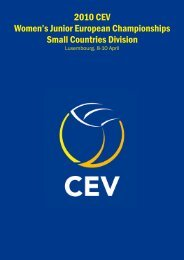 2010 CEV Women's Junior European Championships Small Countries Division