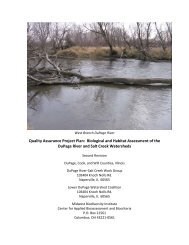 Quality Assurance Project Plan - DuPage River Salt Creek Workgroup