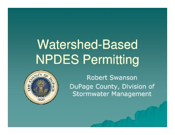 Watershed-Based NPDES Permitting