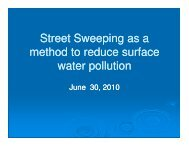 Street Sweeping as a method to reduce surface water pollution