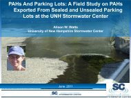 A Field Study on PAHs Exported From Sealed and Unsealed Parking