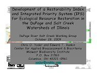 Presentation. Restorability and Priority Setting Project