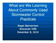 What are We Learning About Commonly Used Stormwater Control Practices