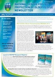 National Centre for the Protection of Older People NEWSLETTER