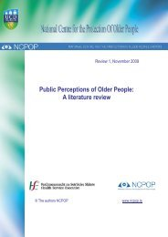 Public Perceptions of Older People A literature review