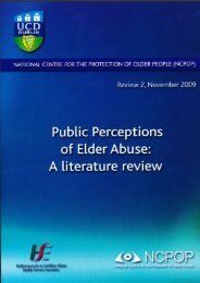 Public Perceptions of Elder Abuse - Global Action on Aging