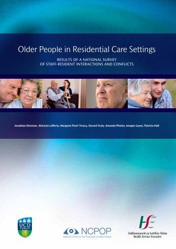 Older People in Residential Care Settings