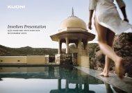 Investors Presentation - Interim Results Q3 / 9 Mo... PDF - Kuoni Group