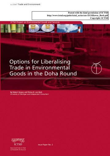 Options for Liberalising Trade in Environmental Goods in the Doha Round