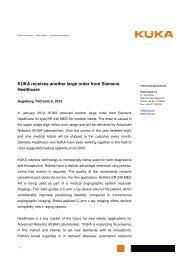 Press release to download (PDF format) - KUKA Aktiengesellschaft
