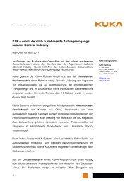 Pressemitteilung zum Download (PDF-Format) - KUKA ...